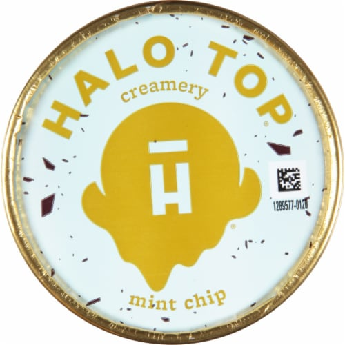 Halo Top Mint Chocolate Chip Light Ice Cream Perspective: top