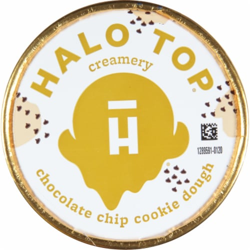Halo Top® Chocolate Chip Cookie Dough Light Ice Cream Perspective: top