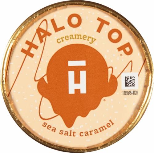 Halo Top Sea Salt Caramel Light Ice Cream Perspective: top