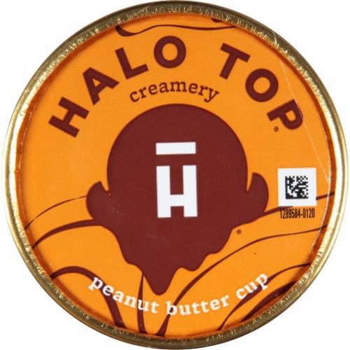 Halo Top Peanut Butter Cup Light Ice Cream Perspective: top