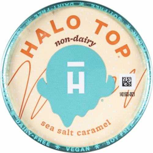 Halo Top Dairy-Free Soy-Free Vegan Sea Salt Caramel Frozen Dessert Perspective: top