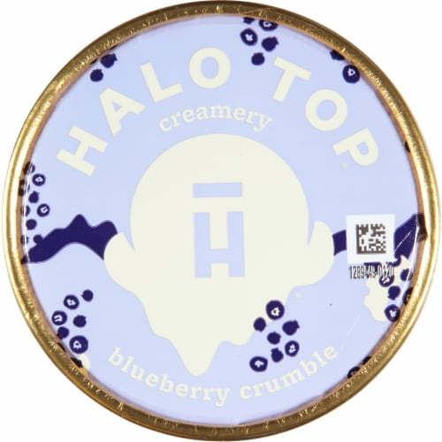Halo Top Blueberry Crumble Ice Cream Perspective: top
