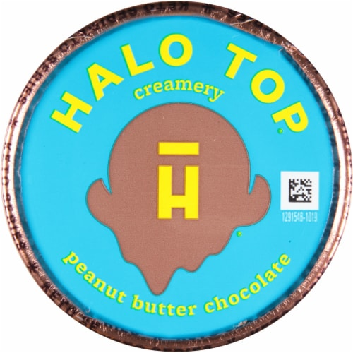 Halo Top Keto Peanut Butter Chocolate Ice Cream Perspective: top