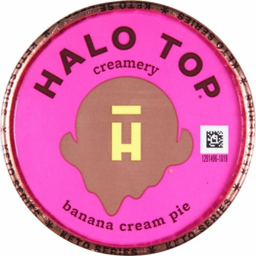 Halo Top Keto Banana Cream Pie Ice Cream Perspective: top
