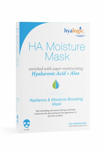 Ha Moisture Mask 4-Pack with Hyaluronic Acid Perspective: top