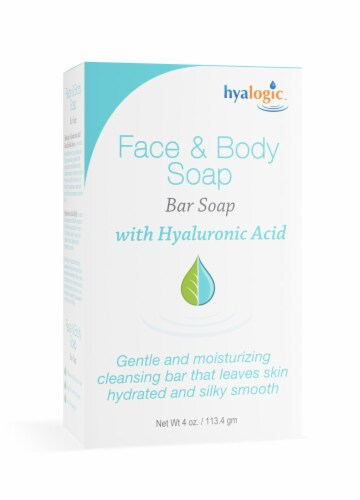 Face & Body Bar Soap with Hyaluronic Acid Perspective: top