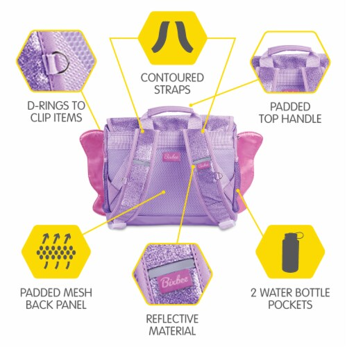 Bixbee Small Sparkalicious Butterflyer Backpack - Purple Perspective: top