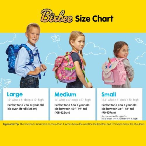 Bixbee Medium Sparkalicious Backpack - Purple Perspective: top