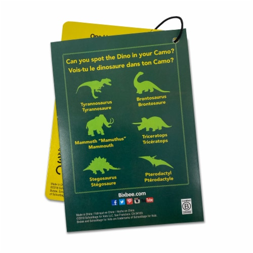 Bixbee Large Dino Camo Backpack Perspective: top