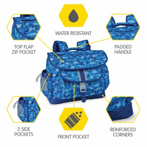 Bixbee Large Shark Camo Backpack - Blue Perspective: top