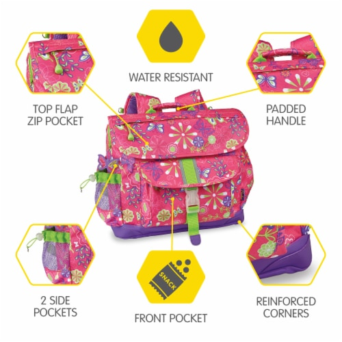 Bixbee Medium Butterfly Garden Backpack Perspective: top