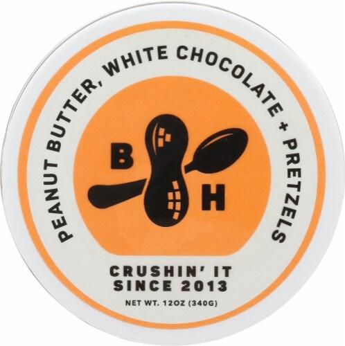B.Happy Dream Big White Chocolate Pretzel Peanut Butter Perspective: top