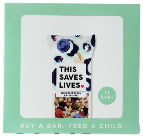 This Saves Lives Wild Blueberry & Pistachio Bars Perspective: top