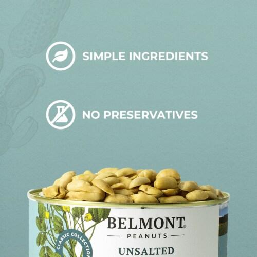 Belmont Peanuts Unsalted Virginia Peanuts, 38Oz Perspective: top