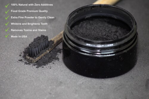 Clearly GLOW Coconut, Teeth Whitening Activated Coconut Charcoal Powder Perspective: top