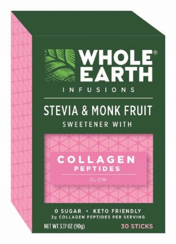 Whole Earth Infusions Stevia & Monk Fruit Sweetener Sticks Perspective: top