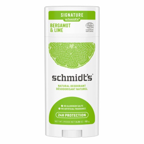 Schmidt's Bergamont + Lime Natural Deodorant Stick Perspective: top