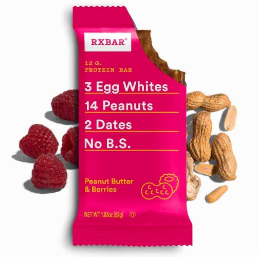 RXBAR Peanut Butter & Berries Protein Bars Perspective: top