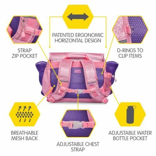 Bixbee Medium Sparkalicious Butterflyer Backpack - Pink Perspective: top