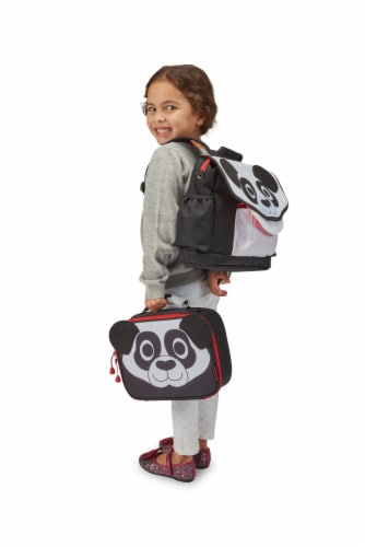 Bixbee Animal Pack Panda Lunchbox Perspective: top