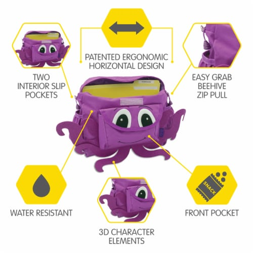 Bixbee Animal Pack Small Octopus Backpack Perspective: top