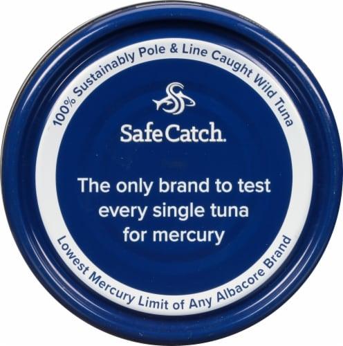 Safe Catch® No Salt Added Wild Albacore Tuna Perspective: top