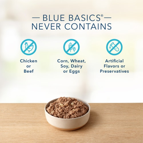 Blue Buffalo Basics Limited Ingredient Diet Turkey & Potato Recipe Adult Wet Dog Food Perspective: top