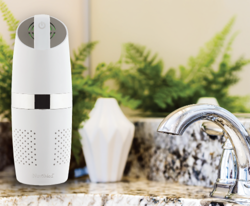 NuvoMed Portable Air Purifier with HEPA Filter Perspective: top