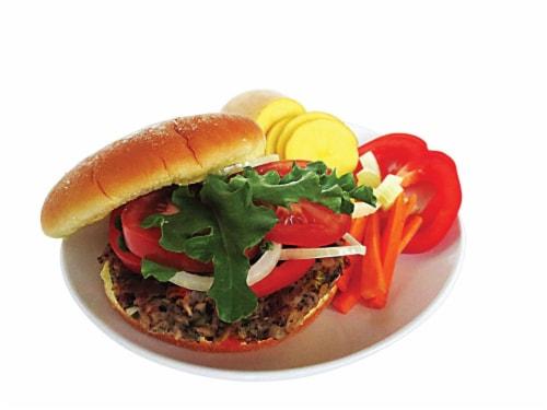 Vegan Burger (9 Patties) - Veggie Six Perspective: top