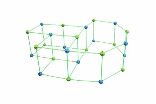 Funphix Glow in the Dark Fort Building Kit - Blue/Green Perspective: top
