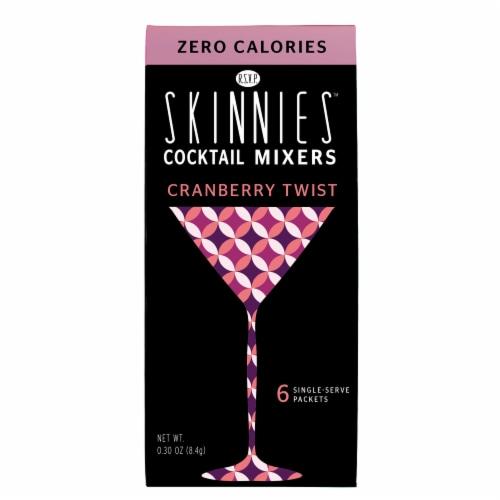 RSVP Skinnies Cranberry Twist Cocktail Mixer Perspective: top
