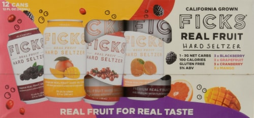Ficks® Real Fruit Hard Seltzer Variety Pack Perspective: top