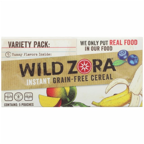 Wild Zora Instant Grain-Free Hot Cereal Variety Pack Perspective: top