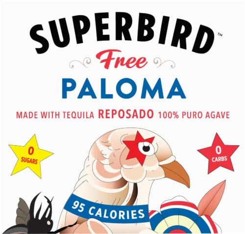 Superbird Free Pink Grapefruit Paloma Tequila Soda Perspective: top