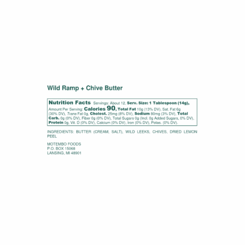 4 Count Original Wild Ramp & Chive Butter Perspective: top