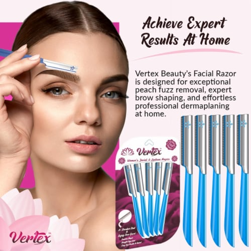 Eyebrow Razors Women Facial Razor for Hair Removal And Dermaplaning Tool To Remove Peach Fuzz Perspective: top