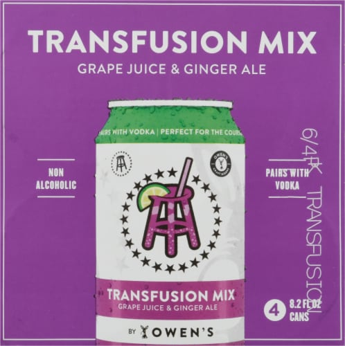 Owens Grape Juice & Ginger Ale Transfusion Mix Perspective: top