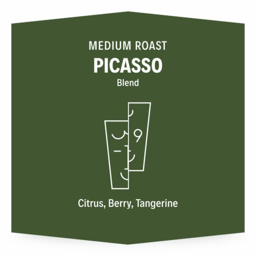 3-19 Coffee Picasso Blend Medium Roast Whole Bean Coffee Perspective: top