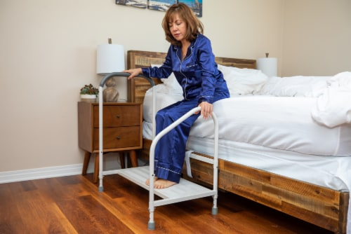 Step2bed XL Bed Rails for Elderly w/ Adjustable Height Bed Step Stool Perspective: top