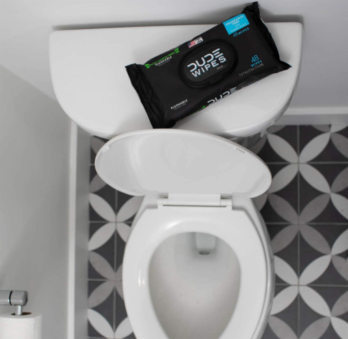 DUDE Wipes Fragrance Free Flushable Wipes Perspective: top