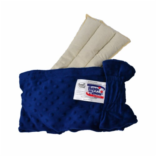 Happi Tummi:Natural and Fast Acting Warmed Aromatherapy Wrap for Pain Relief (Blue L/XL) Perspective: top