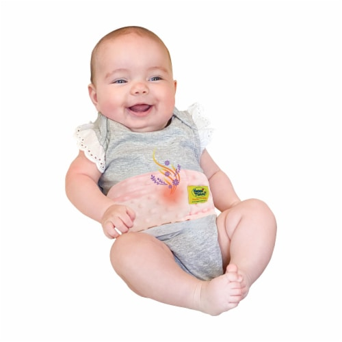 Happi Tummi:All Natural Fast Relief Waistband for  Colic & Gas in Babies and Toddlers in Pink Perspective: top