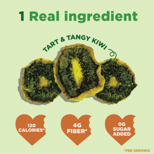 RIND Snacks Tangy Kiwi Dried Fruit Superfood - 3oz Bags, 6 Bags Total Perspective: top