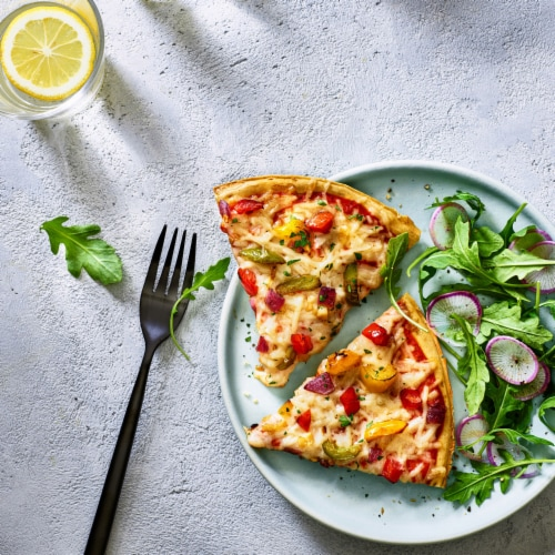 Daiya Gluten-Free Fire-Roasted Vegetable Pizza Perspective: top