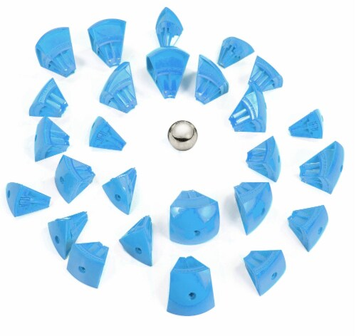 Geomag Kor Egg - Blue - 55 Piece Creative Magnet Playset Perspective: top