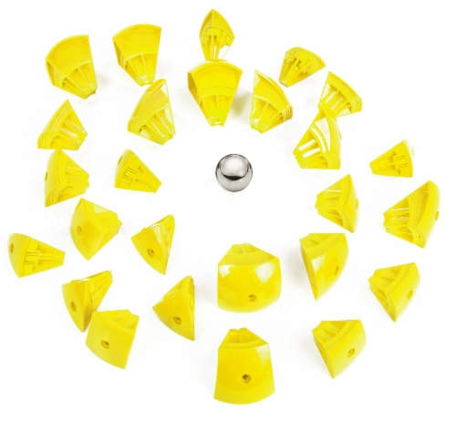 Geomag Kor Egg - Yellow - 55 Piece Creative Magnet Playset Perspective: top
