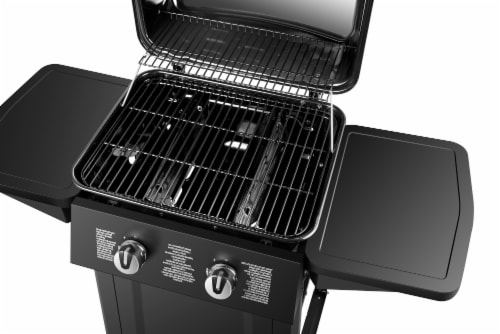 Dyna-Glo 2 Burner Open Cart LP Gas Grill - Black Perspective: top