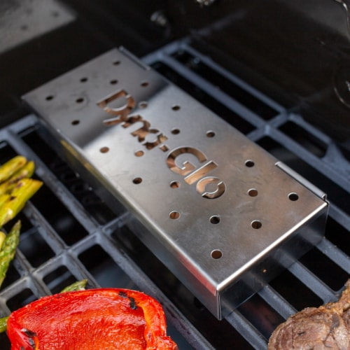 Dyna-Glo Hinged Stainless Steel Smoker Box Perspective: top