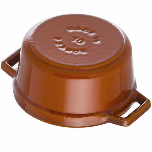 Staub Cast Iron 4-qt Round Cocotte - Burnt Orange Perspective: top