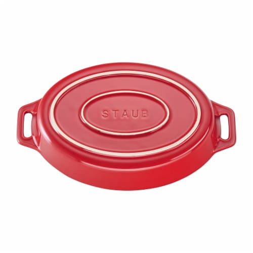 Staub Ceramic 9-inch Oval Baking Dish - Cherry Perspective: top
